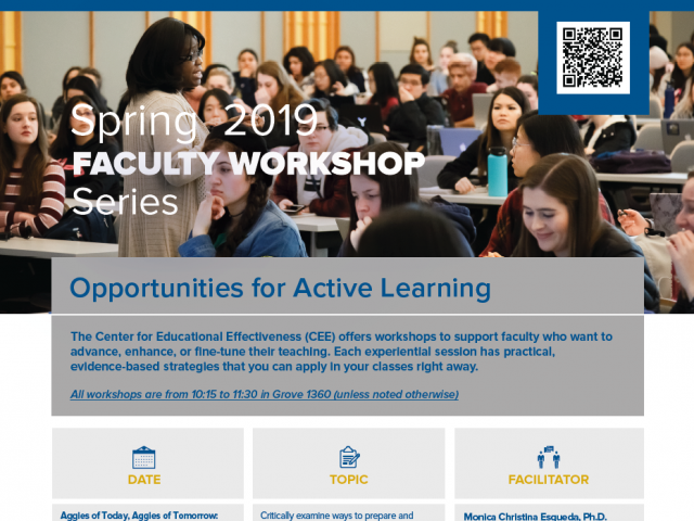 Spring 2019 Faculty Workshop