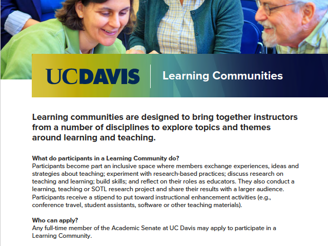 Learning Communities Flyer