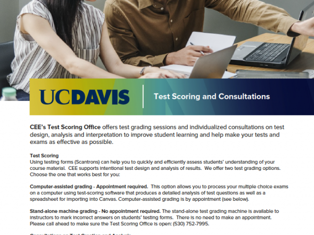 Test Scoring and Consultations Flyer